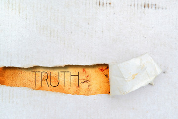 Truth title on old paper