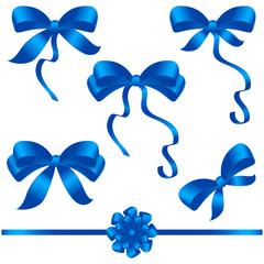bow ribbon blue