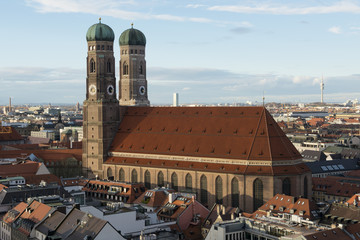 Aerial view of the Frauenkirche