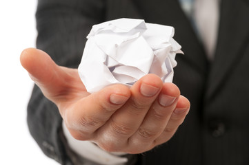 Creased paper ball