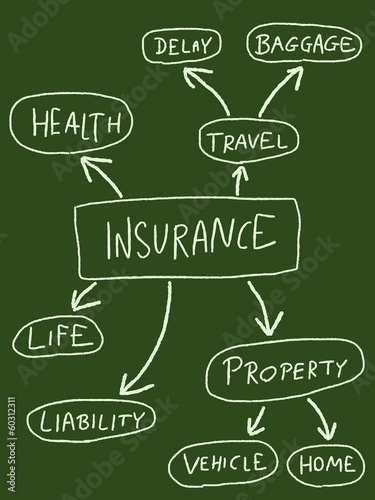 Insurance types - mind map