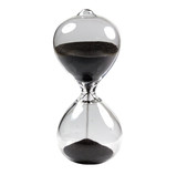The Hourglass on white background