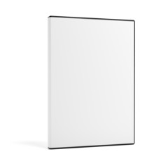 Blank DVD case isolated on white