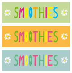smoothies schilder