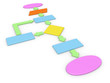 3d concept of computer algorithm