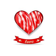 Сердце  открытка