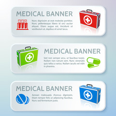 Medical bag banners set