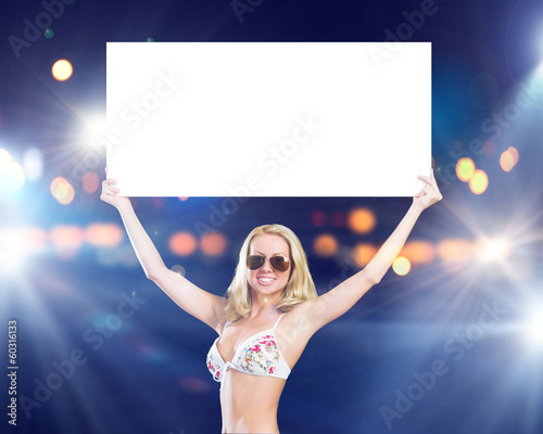Girl with banner