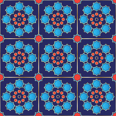 Vector Illustration of a seamless Turkish Tile.