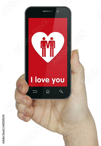 I love you. Gay. Phone