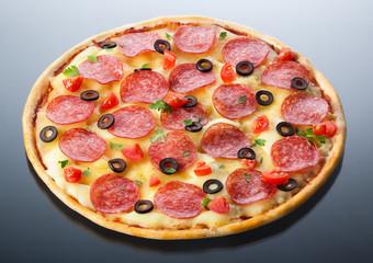 Italian pizza isolated