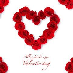 Valentinstags Glückwunschkarte
