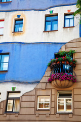 Wall of Hundertwasser house