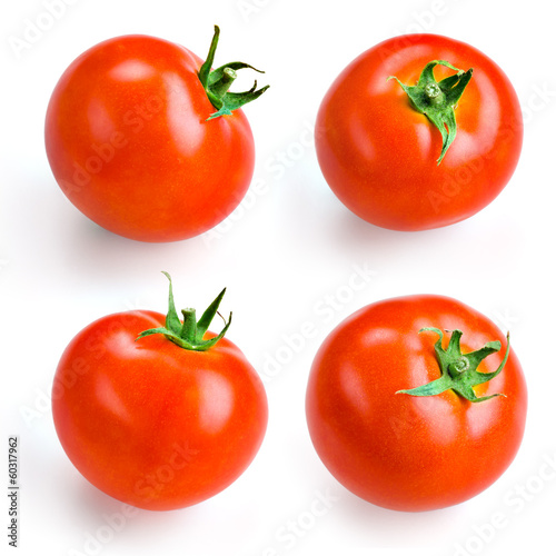 Tomato isolated on white. Collection