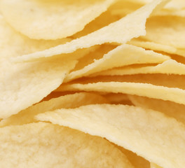 Background of potato chips.