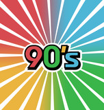 Vector 90s Vintage Color Background poster