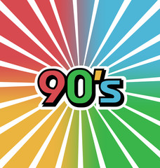 Vector 90s Vintage Color Background