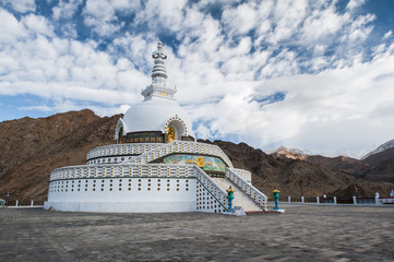 A Shanti Stupa Leh, Ladakh, India