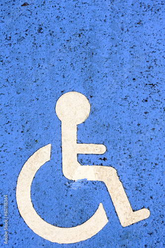 Parking space reserved for handicapped