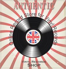 Vinyl record retro background