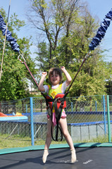 Girl on the bungee.