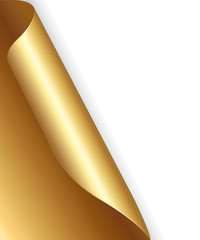 Gold paper with folded corner.