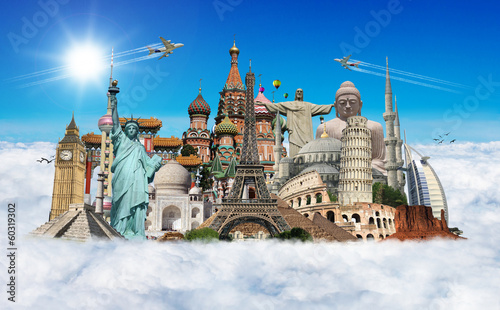 Travel the world monuments concept - 60319302