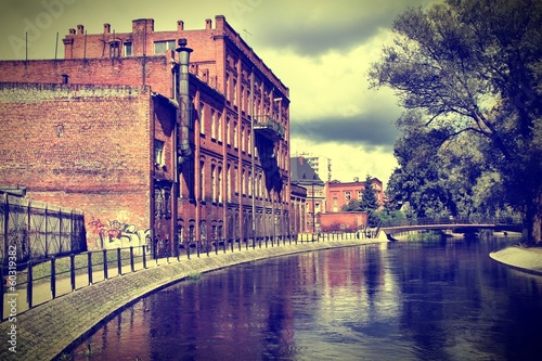 Bydgoszcz, Poland - cross processed color tone