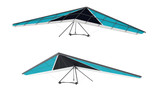 Hang glider isolated at the white background