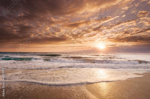 Fotobehang Water Florida Coastal Sunrise reflects its tropical beauty
