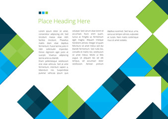 Brochure Background Design with Squares