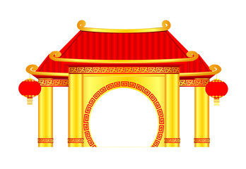 Chinese Arch Vector