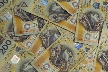 polish banknotes background