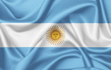 Flag of Argentina waving with silky look