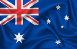 Flag of Australia waving with silky look