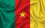 Flag of Cameroon waving with silky look