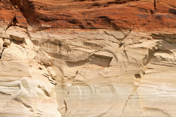 paroi des falaises du lac powell, Arizona-Utah