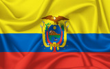Flag of Ecuador waving with silky look