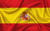 Flag of Spain waving with silky look