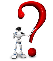 robot with a question mark