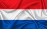 Flag of Netherland waving with silky look