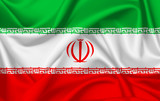 Flag of Iran waving with silky look