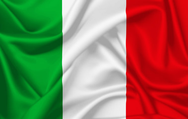 Flag of Italy waving with silky look