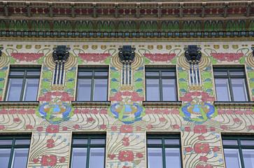 Jugendstil Fassade in Wien (Detailansicht)