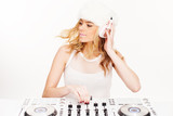 Beautiful young female DJ