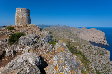 The ruins of the old fortress in Mallorca