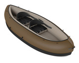 Inflatable kayak canoe isolated at the white background