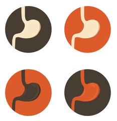Human stomach symbol set