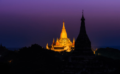 Bagan at dawn, Myanmar