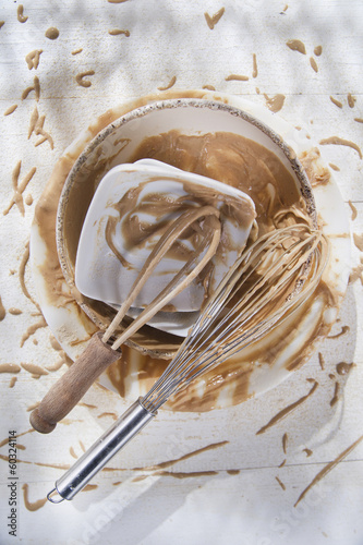Whip and after preparation of sweet dishes